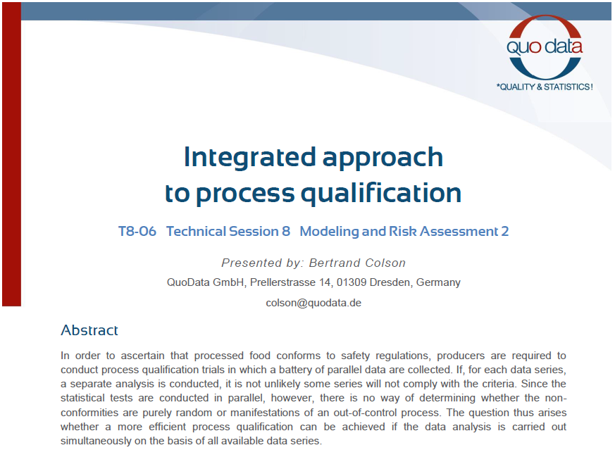 Integrated approach to process qualification